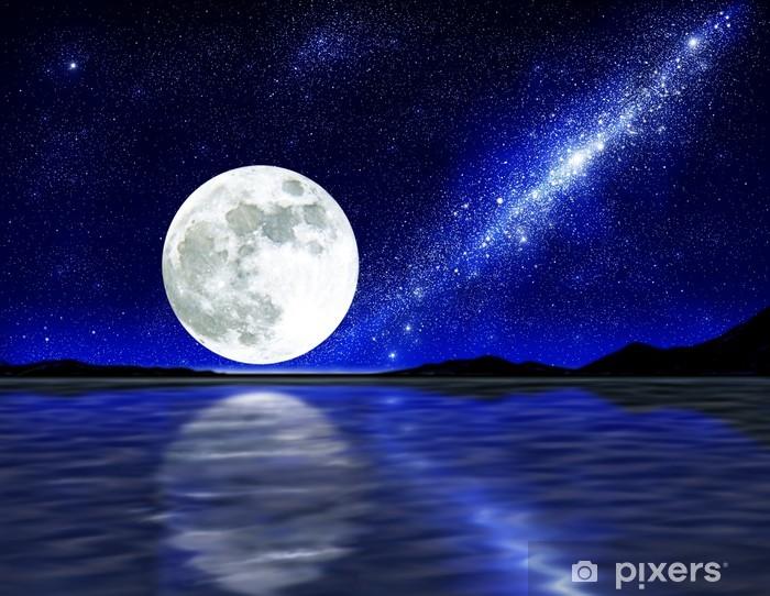 moon over water Pixerstick Sticker - Stars