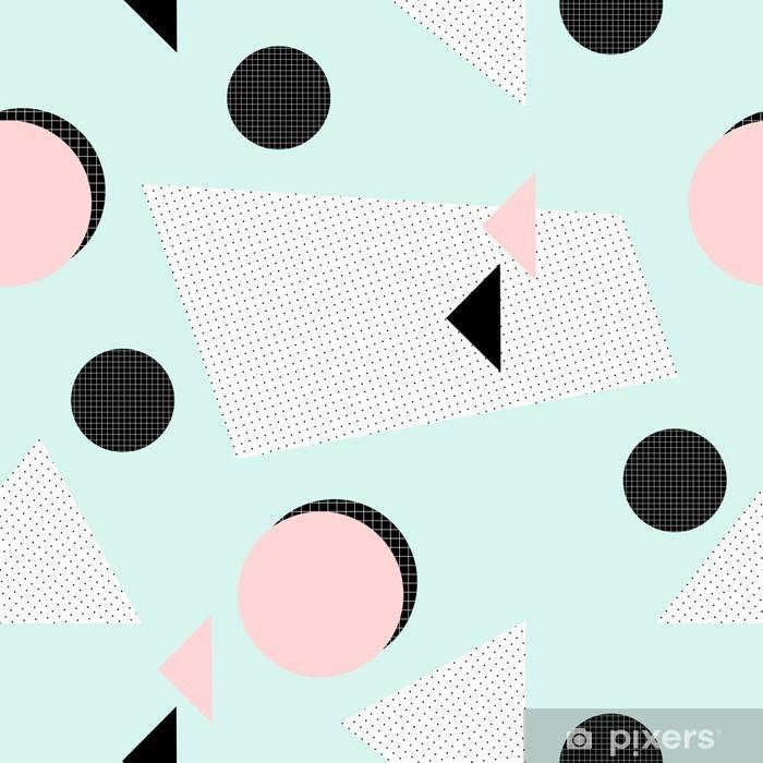 Papier peint vinyle Rétro motif géométrique. - Ressources graphiques