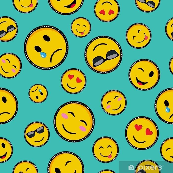 Naklejka na szybę i okno Słodkie emoji wzorów bez szwu wzór - Zasoby graficzne