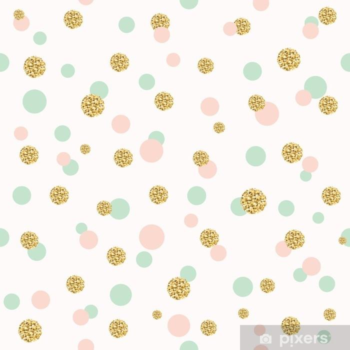 Vinyl Fotobehang Glitter confetti polka dot naadloze patroon. - Hobby's en Vrije tijd