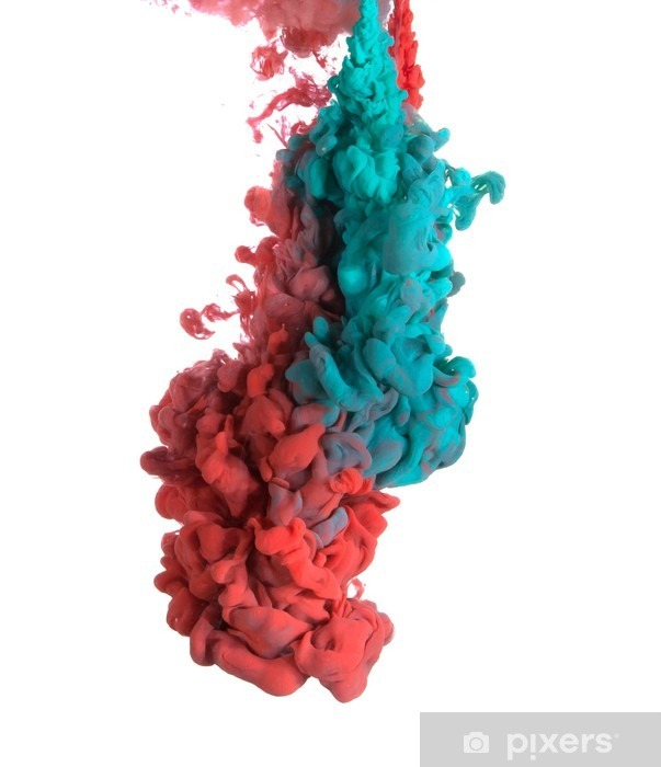Blue and red paint Vinyl Wall Mural - Hobbies and Leisure