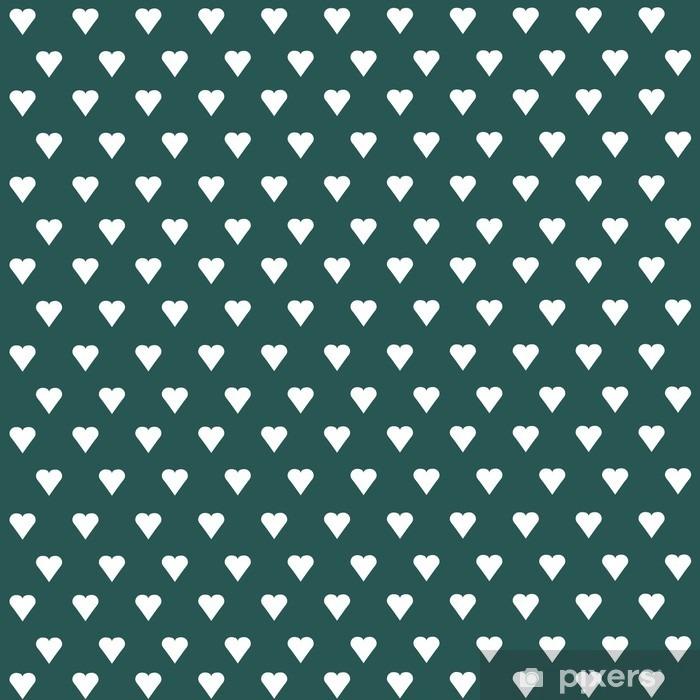 Bureau- en Tafelsticker Naadloze vector patroon met witte harten op pastel achtergrond - Grafische Bronnen