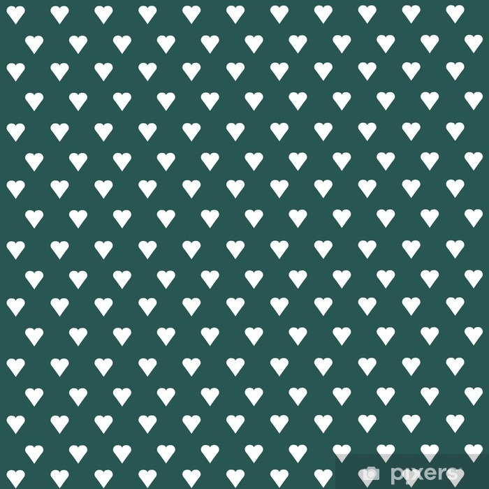 Seamless vector pattern with white hearts on pastel background Vinyl Wall Mural - Graphic Resources