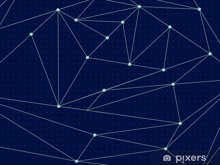 Kosmisk polygonal linje baggrund. Vektor illustration Vinyl fototapet - Videnskab
