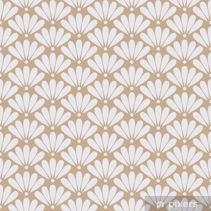 Papier peint vinyle Seamless vector beige motif floral oriental - Ressources graphiques