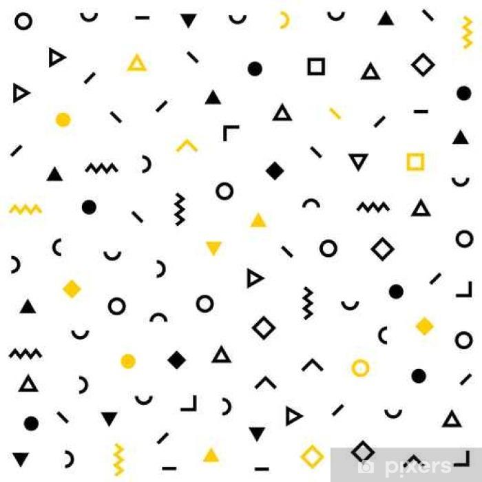 401733bc46c Hipster memphis mønster med geometriske figurer Pixerstick klistermærke
