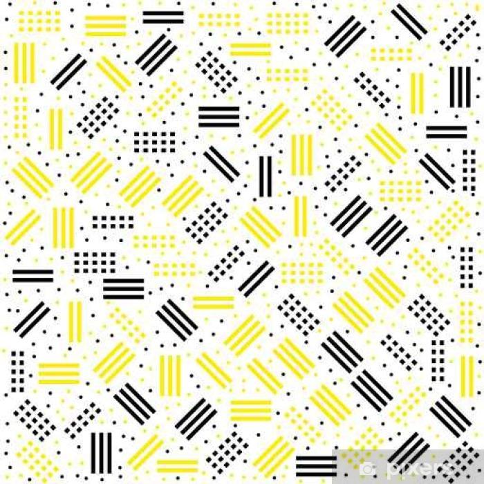 Papier peint vinyle Motif Hipster memphis avec des formes géométriques - Ressources graphiques