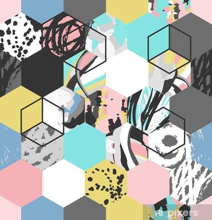 Sticker pour ordinateur portable Vecteur géométrique motif de fond - Ressources graphiques