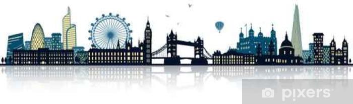 London Skyline Wall Mural Vinyl