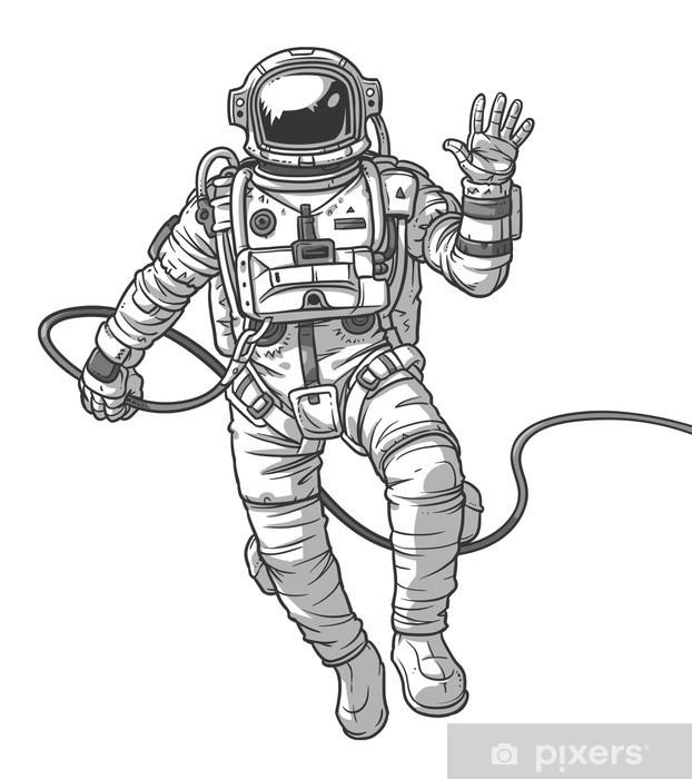 Fototapeta winylowa Ilustracji wektorowych kosmonauta, - Zasoby graficzne