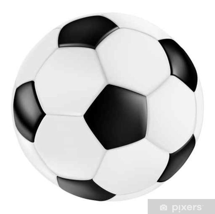 Classic Black White Leather Vector Soccer Ball Fussball Schwarz Weiss Vektor Klassisch Retro Sticker Pixerstick