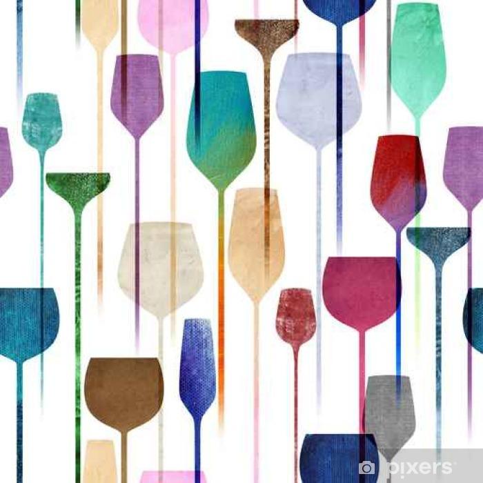 Fototapeta winylowa Party napoje teksturowane szwu wzór - Napoje
