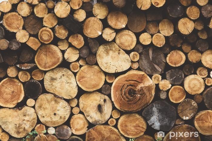 Naklejka Pixerstick Drewno opałowe tekstury - Zasoby graficzne