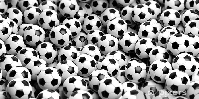 Fotomural Estándar Balones de fútbol de fondo. Ilustración 3d - Deportes d3246bba1d744