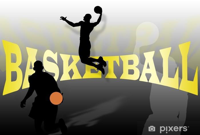 Naklejka Pixerstick Koszykówka tła - Sporty drużynowe