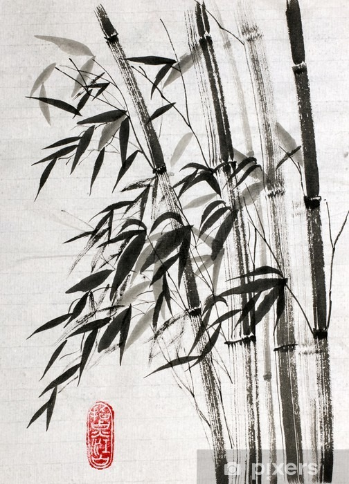 bamboo is a symbol of longevity and prosperity Vinyl Wall Mural - Plants and Flowers