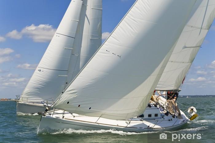 Sticker Pixerstick Yachts de course - Bateaux