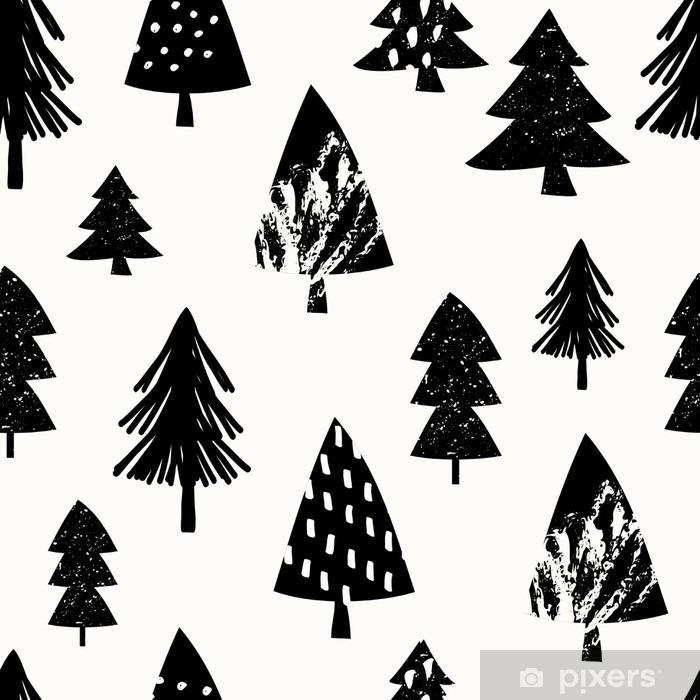 Naklejka Pixerstick Boże Narodzenie bez szwu deseń - Krajobrazy