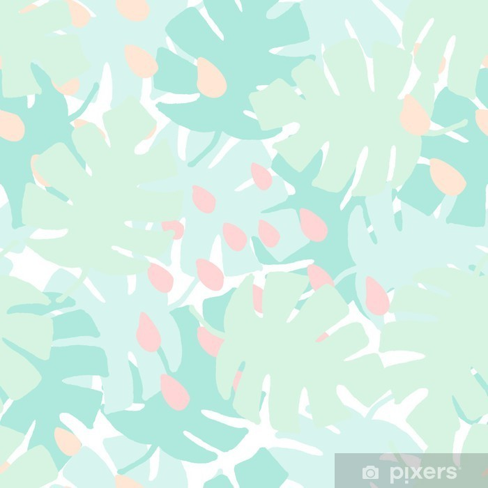 Seamless Tropical Pattern Vinyl Wall Mural - Graphic Resources