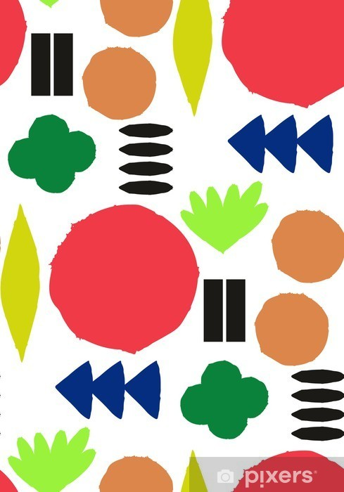 Naklejka Pixerstick Jednolite wzór z graficznymi elementami geometrycznymi - Skandynawski