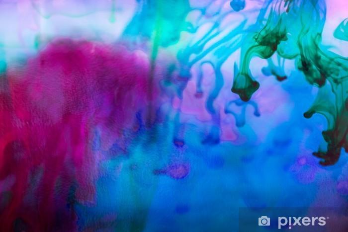 Fototapeta winylowa Kompozycja abstrakcyjna z atramentem i małych pęcherzyków. Piękne tła, tekstury i kolory - Zasoby graficzne