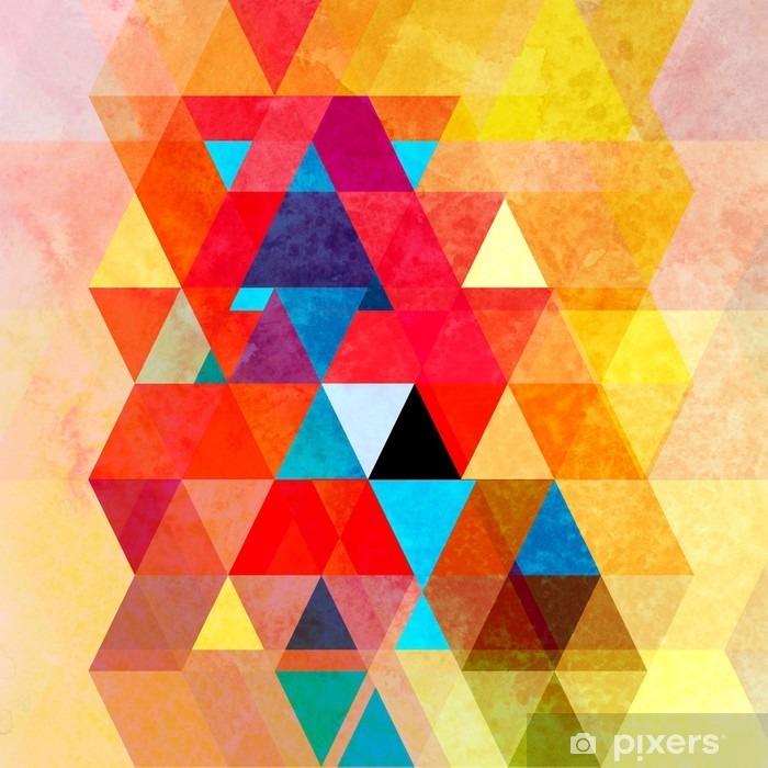 Sticker pour frigo Aquarelle fond géométrique avec des triangles - Ressources graphiques