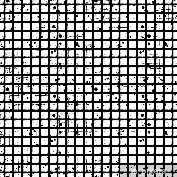 a8f40d2419b61 Vinilo Pixerstick Vector patrón a cuadros sin fisuras. fondo blanco y negro  geométrico creativo con los ...