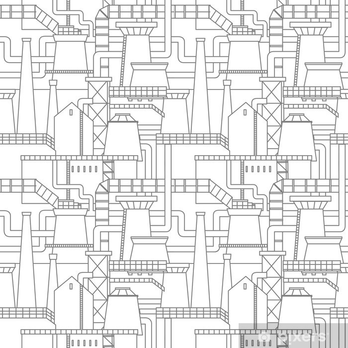 Industrial city pattern Framed Poster - Graphic Resources