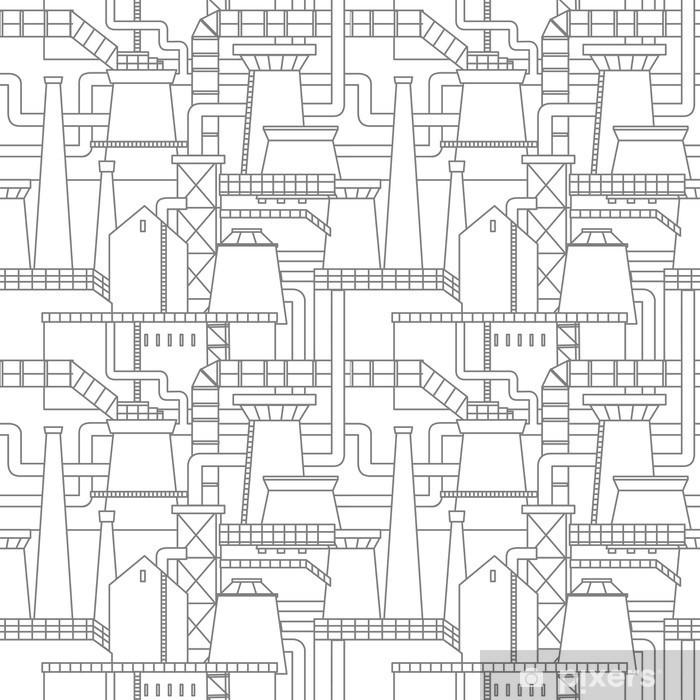 Papier peint lavable Motif de la ville industrielle - Ressources graphiques