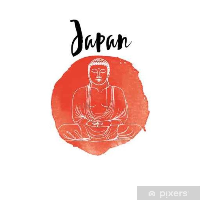 Poster Hand gezeichnet Japan - Reisen