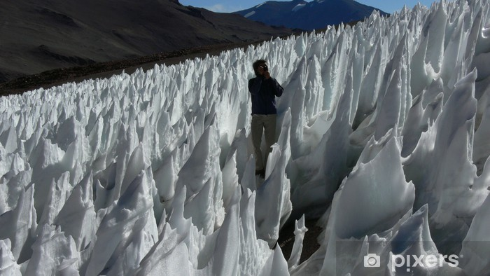 Fototapeta winylowa Skruszony lód, chili - Góry