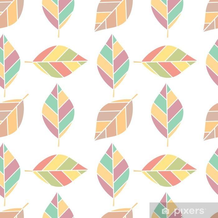Papier peint vinyle Autumn leaves seamless texture - Automne