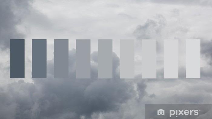 Nálepka Pixerstick Těžké dešťové mraky - Krajiny