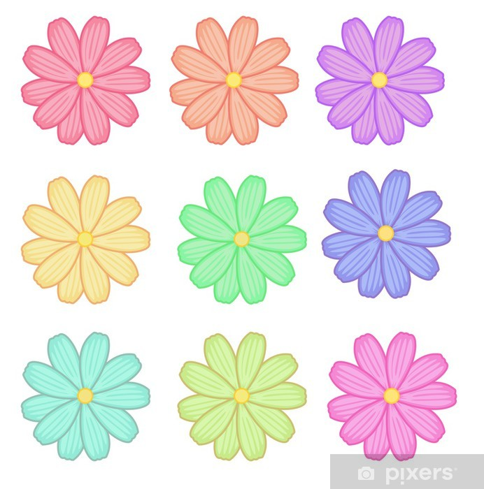Sticker Pixerstick Fleures - Criteo