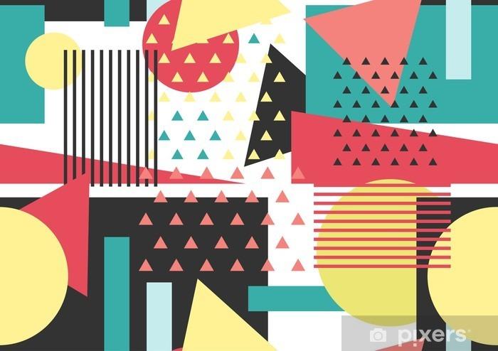 Papier peint vinyle Memphis seamless pattern. fond géométrique. - Ressources graphiques