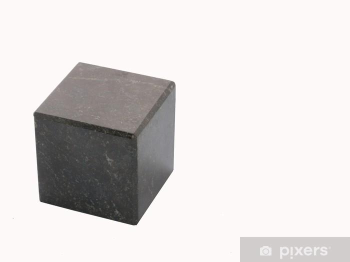 Papier peint vinyle Noir cube de pierre - Textures