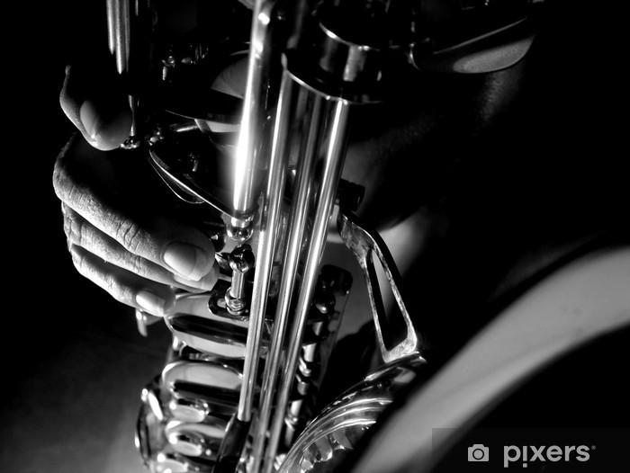 Vinyl-Fototapete Shadow sax - Themen