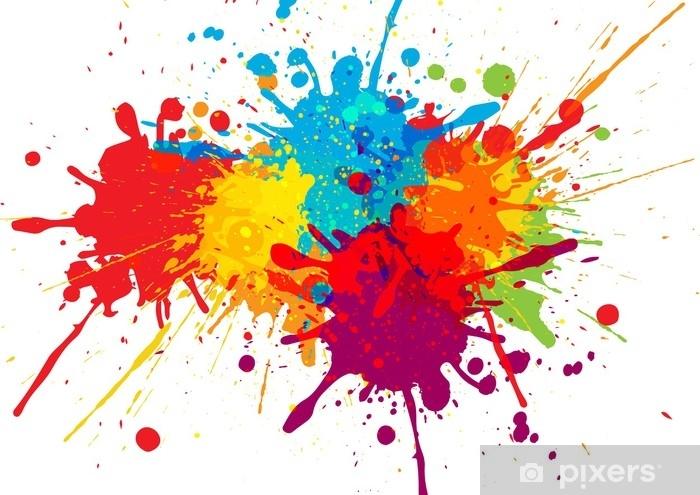 Papier peint vinyle Conception de fond coloré de vecteur. conception de vecteur d'illustration - Ressources graphiques