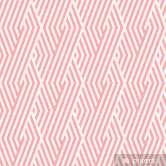 Vinyl Fotobehang Chevron strip patroon naadloze roze twee toon kleuren. Fashion design patroon naadloos. Geometrische chevron streep abstracte achtergrond vector. - Graphic Resources
