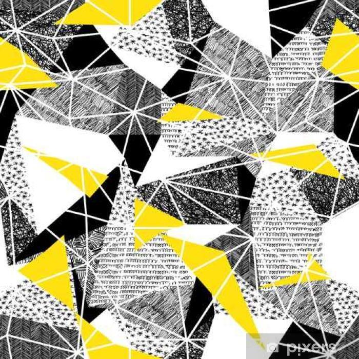 Vinyl Fotobehang Geometrische naadloze patroon in retro stijl. Vintage background.Tr - Grafische Bronnen