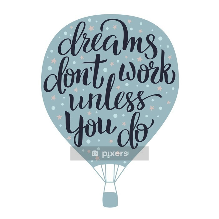Dreams lettering Wall Decal - Hobbies and Leisure