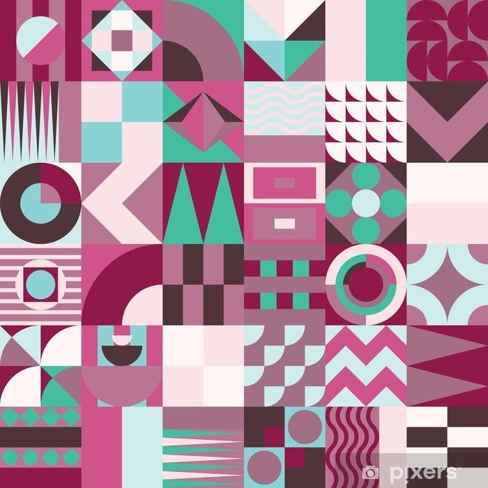 Fototapeta winylowa Geometryczny wzór mozaiki bez szwu - Zasoby graficzne