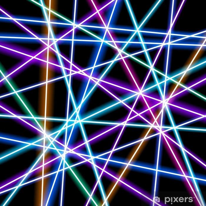 Abstract vector background, more glowing lines, geometry, technology, neon wallpaper Vinyl Wall Mural - Graphic Resources