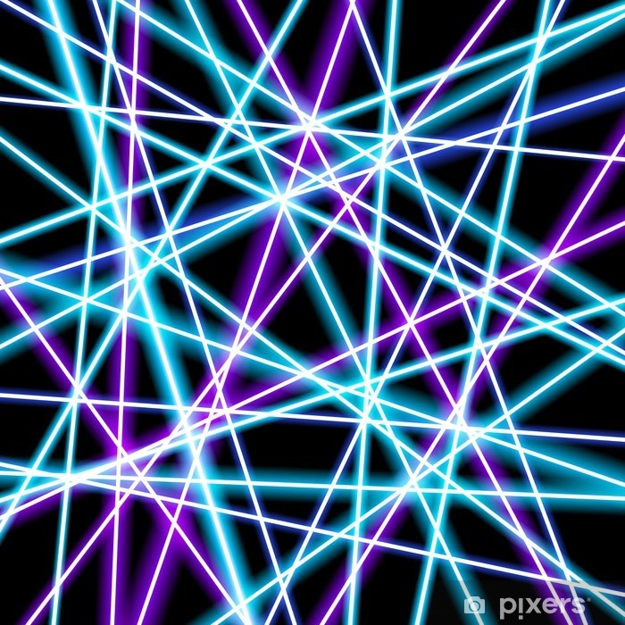 Abstract vector background, more glowing lines, geometry, technology, neon  wallpaper Wall Mural - Vinyl