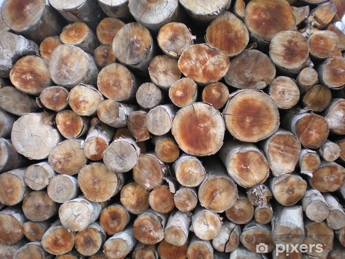 Sticker Pixerstick Bois de chauffage - Ecologie