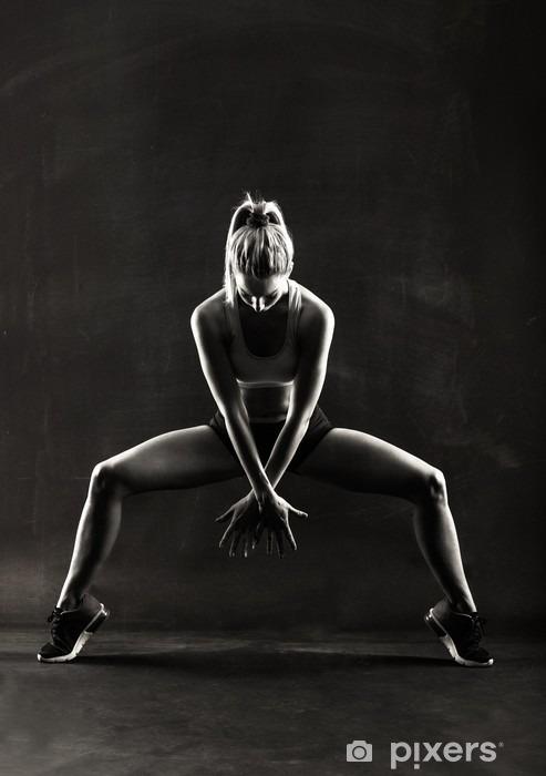 Fototapeta winylowa Fitness kobiece kobieta z mięśni ciała, trening - Sport