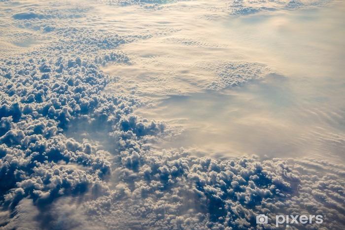 Himmel og skyer fra et fly over Bulgarien Vinyl fototapet - Landskaber