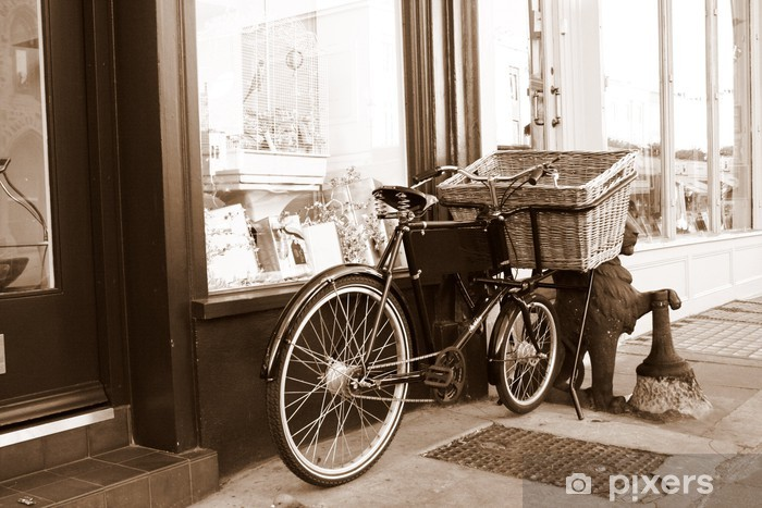Vinilo Pixerstick Rétro vélo - Por carretera