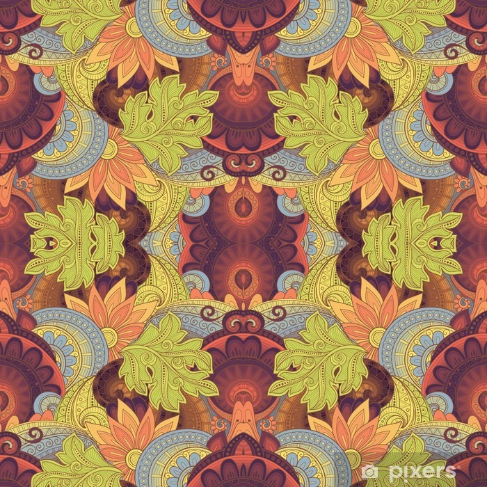 Vector Seamless Abstract Tribal Pattern Vinyl Wall Mural - Graphic Resources