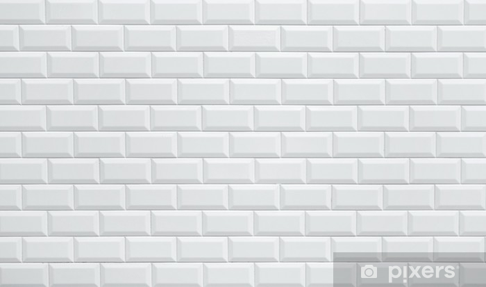 White Ceramic Brick Tile Wall Wall Mural Vinyl